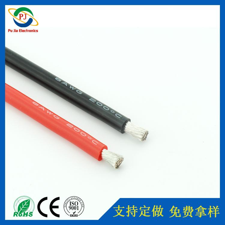 8AWG耐高温200℃硅胶线 专供8#镀锡无氧铜硅胶线