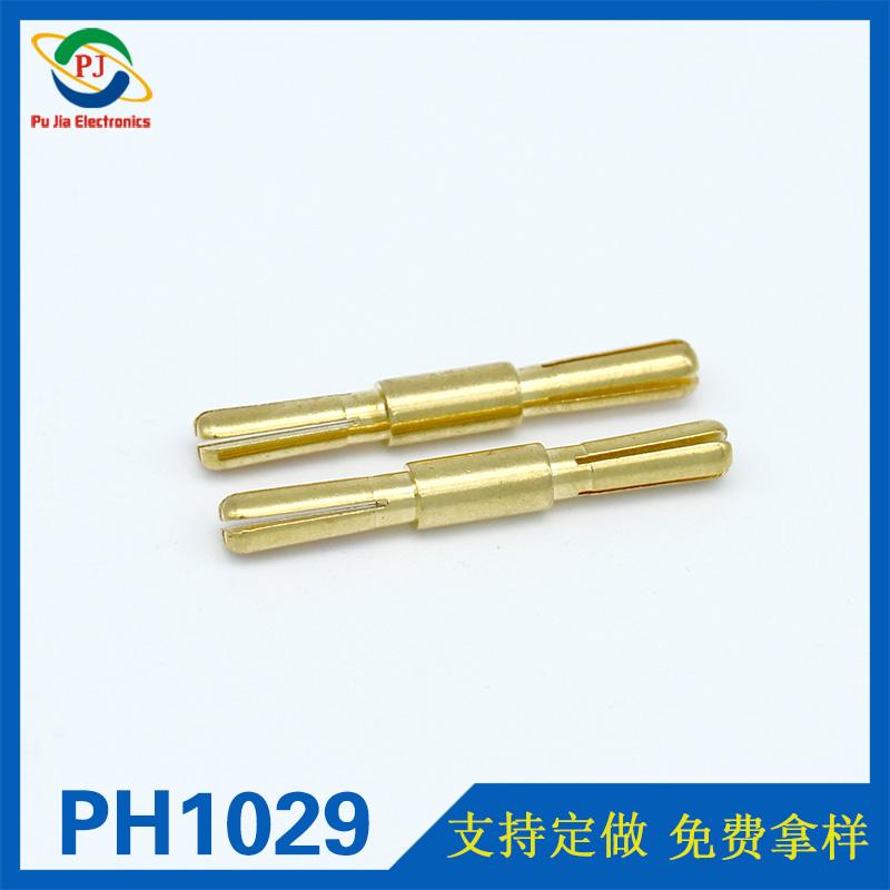 PH1029 4.0MM镀金双头莲花香蕉插头 特殊香蕉插头